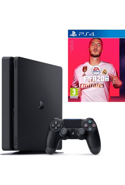 Sony PS4 Slim 500 GB Oyun Konsolu + PS4 FIFA 20 Oyun