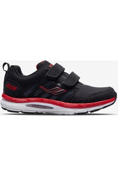 Lescon Wolf Çocuk Spor Ayakkabı Siyah Kırmızı