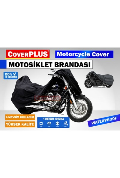 Coverplus Kawasaki Ninja 250SL Motosiklet Brandası Siyah