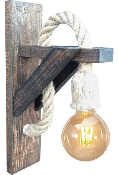 Zümra Ahşap Aplik Duvar Lambası