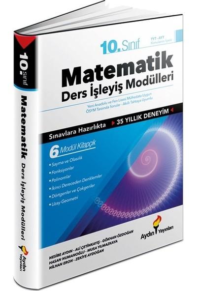 Aydın Yayınları 10. Sınıf Matematik Ders Işleyiş Fasikülleri 6 Modül Kitapçık