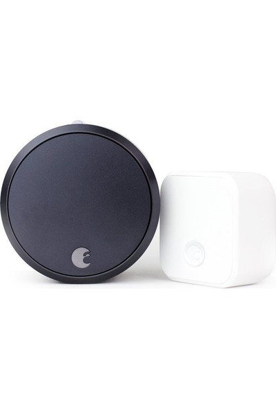 August Smart Lock Pro + Connect, 3rd Gen Technology -Siyah