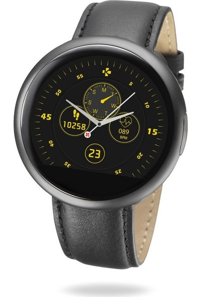 MyKronoz ZeRound2 HR Premium Akıllı Saat Brushed Silver/Black