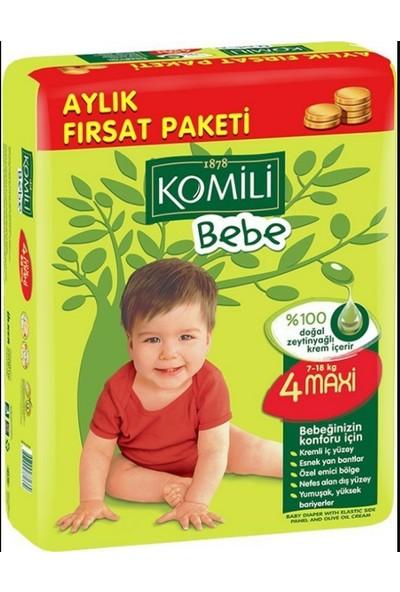Komili 4 Beden Maxi 88 Adet Bebek Bezi Aylık Fırsat Paketi 7-18 kg