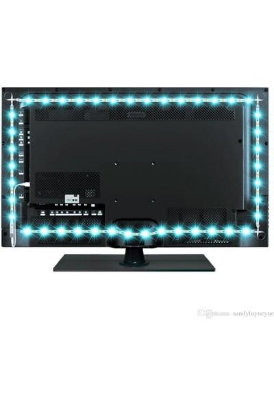 Triline Tv Arkası Uzaktan Kumandalı Rgb LED Şerit Aydınlatma Seti 3 Metre