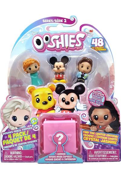 Lisanslı - Ooshies Disney Mini Figür 4'lü Paket - 2. Seri