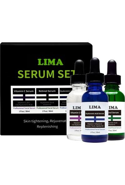 Lima 3'lü Serum-Hyaluronic Acid+Retinol+Vitamin C