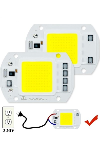 Parkson Power 50W 220V Projektör Cob LED Çip - Beyaz Işık