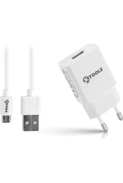 Ktools Life Tek Seyahat Şarj Cihazı 2.4A 5W Hızlı Şarj Adaptör ve Micro USB Kablo