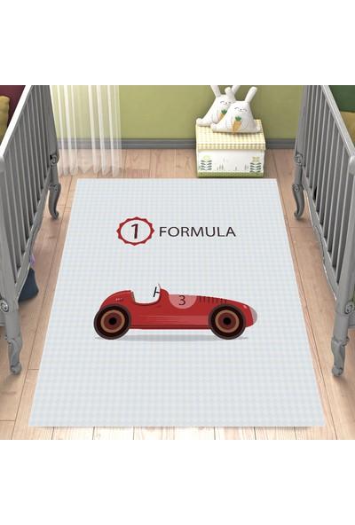 Evpanya Araba Desenli Çocuk Odası Halısı