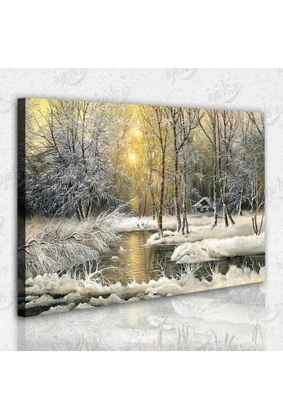 İyi Olsun Doğa ve Kış Manzaralı Kanvas Tablo