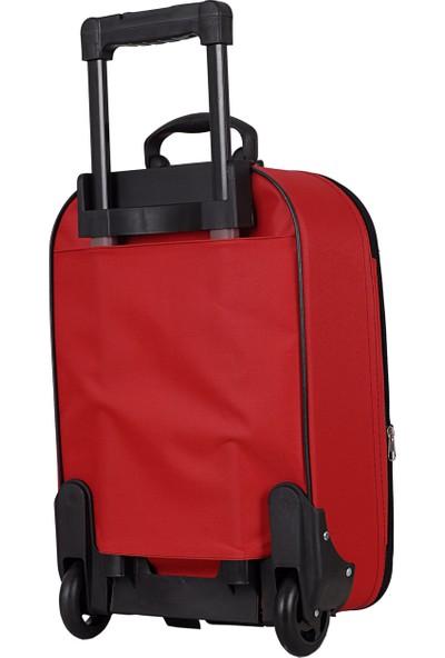 Biggi 002 Kumaş Büyük Boy Valiz Kırmızı
