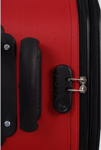 Biggi 002 Kumaş Kabin Boy Valiz Kırmızı