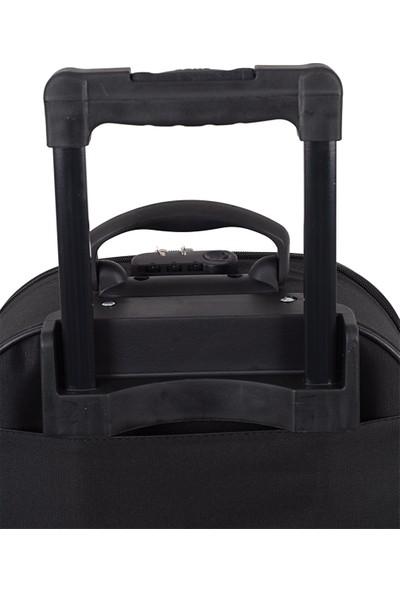Biggi 002 Kumaş Kabin Boy Valiz Siyah