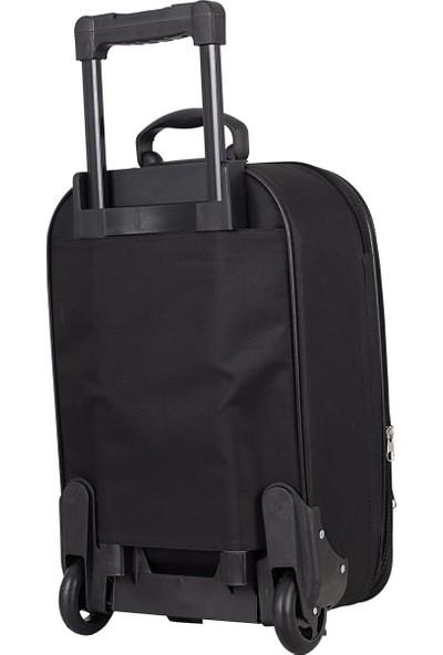 Biggi 002 Kumaş Valiz Seti Siyah