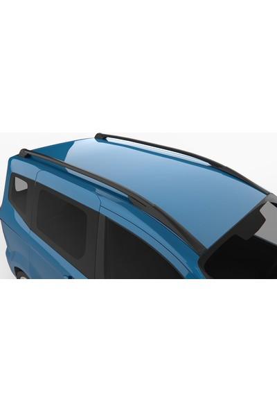 Motovizyon Ford Courıer 2014-2019 Hawk Black Tavan Çıta Seti Port Bagaj Siyah