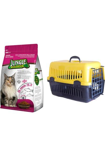 Jungle Sterilised Kısırlaştırılmış Somonlu Kedi Maması 1,5 kg + Pet Style Taşıma Çantası 49 cm Sarı