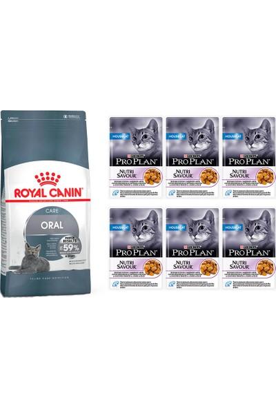 Royal Canin Oral Care Ağız Bakımı İçin Yetişkin Kedi Maması 1,5 kg + Pro Plan Housecat Yaş Mama 6 Ad.