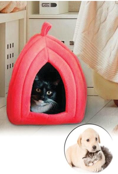 Petzoom Pet Zoom Pet Hut Polar Kedi Ve Köpek Yatağı - Kırmızı