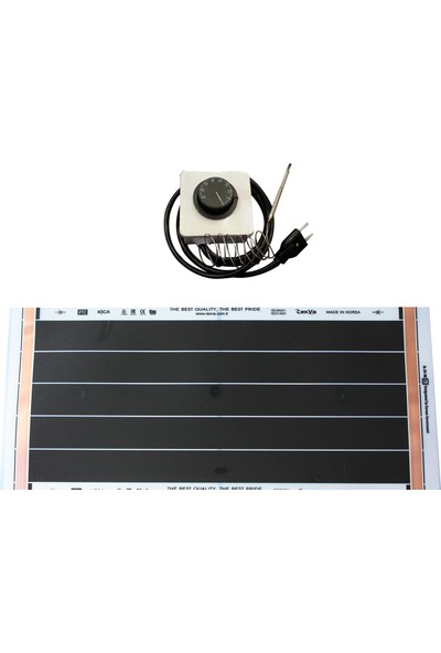 Rexva Xica PTC-206 41,25 Watt 220 Volt Analog Gazlı Termostatlı Karbon Isıtıcı Film 25 x 60 cm