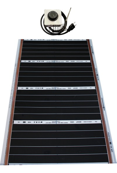 Rexva Xica PTC-306 165 Watt 220 Volt Analog Gazlı Termostatlı Karbon Isıtıcı Film 60 x 100 cm