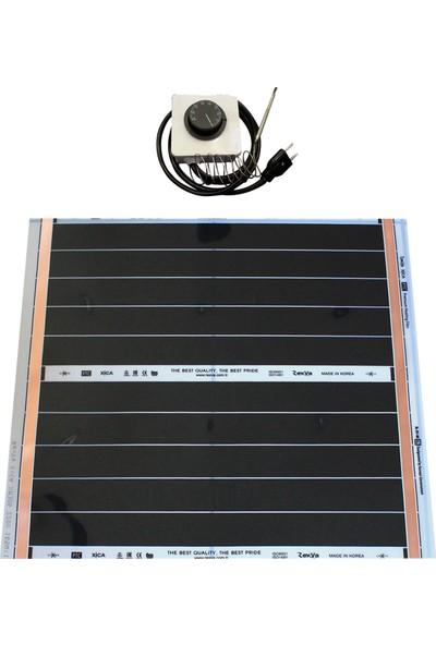 Rexva Xica PTC-306 82.5 Watt 220 Volt Analog Gazlı Termostatlı Karbon Isıtıcı Film 50 x 60 cm