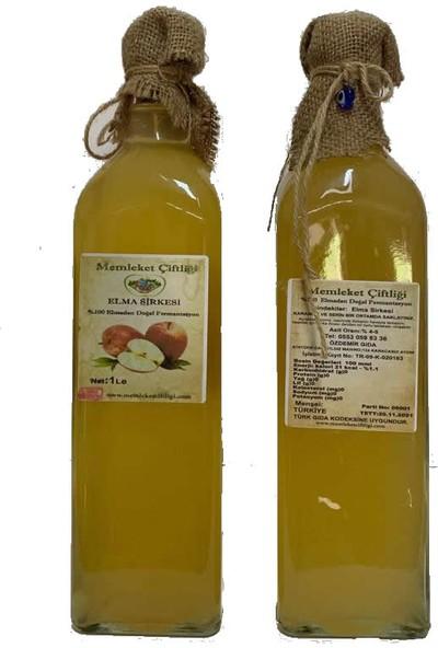 Memleket Çiftliği Doğal Fermente Ev Yapımı Elma Sirkesi 1 lt Cam Şişe