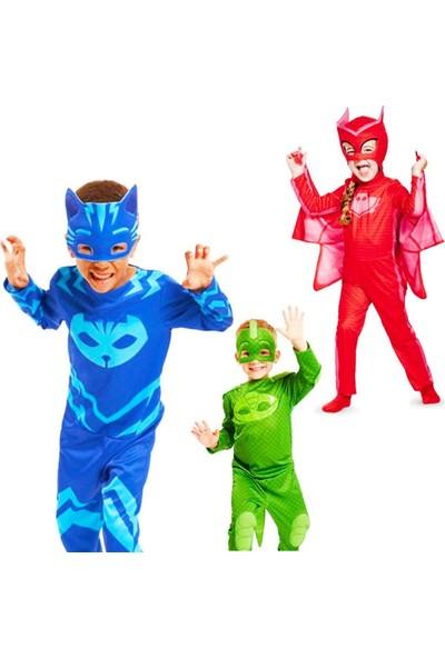 Evistro Pijamaskeliler Kertenkele Çocuk Kostüm 3-5 Yaş