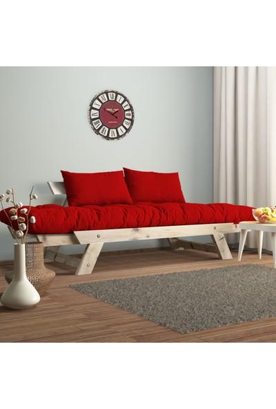 222 Concept Adalar Modern Ahşap Kırmızı Renk Kanepe CPT8108-210