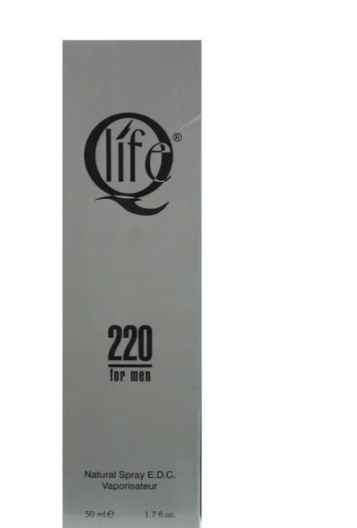 Qlife 220 Erkek Parfüm 50 ml