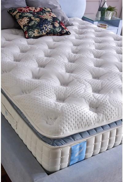 Serabed Cloud Full Yaylı ve Pedli Yatak (Yumuşak Tuşeli Özel Örme Kumaş) 160 x 200 cm