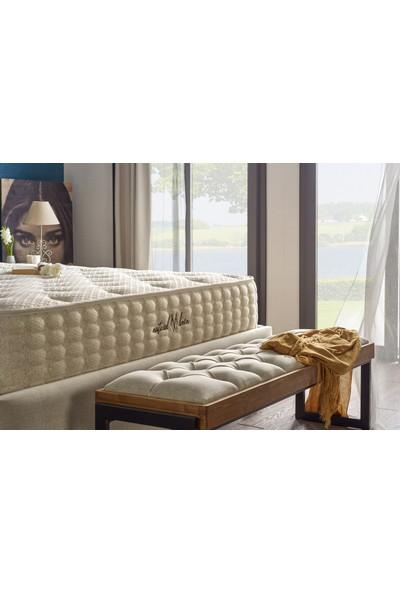 Serabed Natural Linen Full Ortopedik Yaylı Yatak (Örme Keten Kumaşlı) 160 x 200 cm