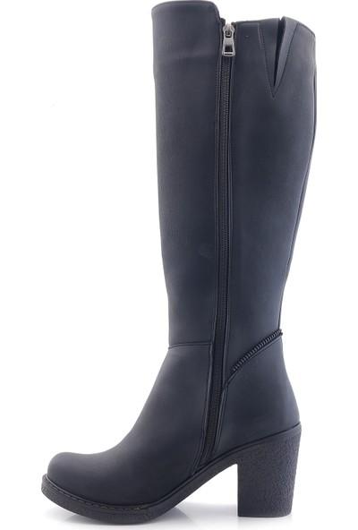 Leona L1102-1 Kare Topuk Kadın Çizme