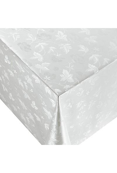 Dekorama Pvc Astarlı Leke Tutmaz Muşamba Beyaz Masa Örtüsü