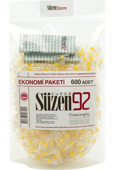 Süzen92 600 Lük Sigara Filtresi Ağızlık Fırsat Paketi - 2 Adet 10 lu Taşıma Kutusu Hediyeli