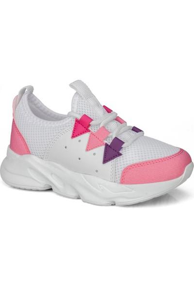 Star Pembe Beyaz Kız Çocuk Ayakkabı Sneaker