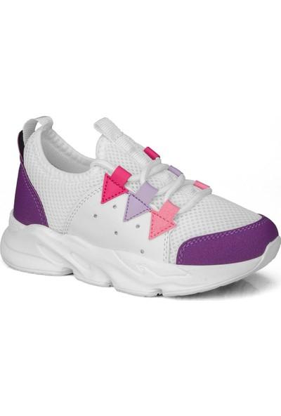 Star Lila Beyaz Kız Çocuk Ayakkabı Sneaker