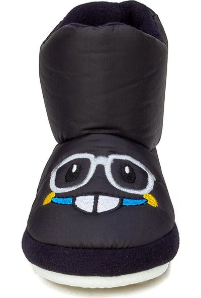Doktor Siyah Unisex Çocuk Panduf Kreş Ayakkabısı