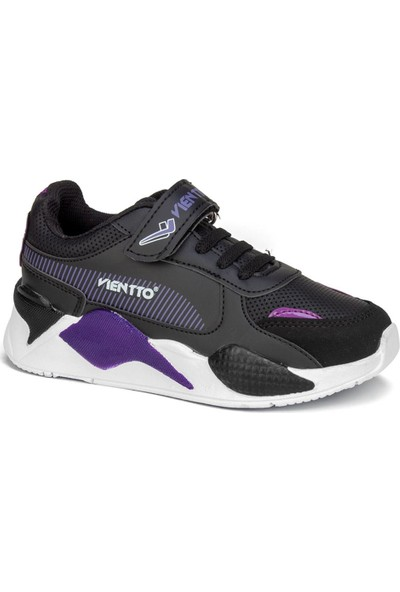 Viento Siyah Erkek Çocuk Ayakkabı