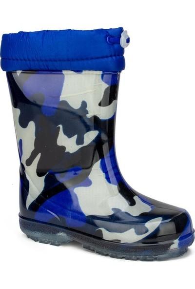 Serabian Mavi Erkek Çocuk Yağmur Çizmesi