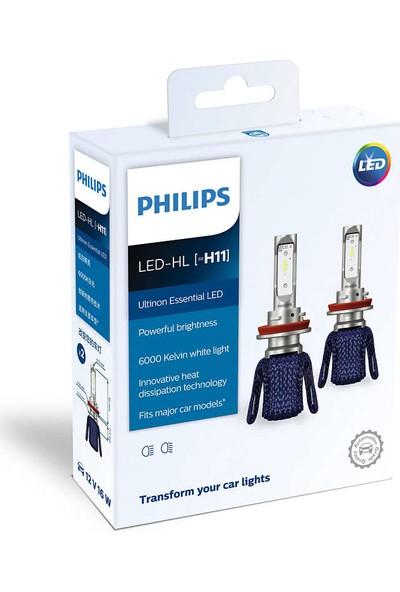 Philips Yeni LED Xenon H11 11362UEX2 6000K Daha Parlak Işık