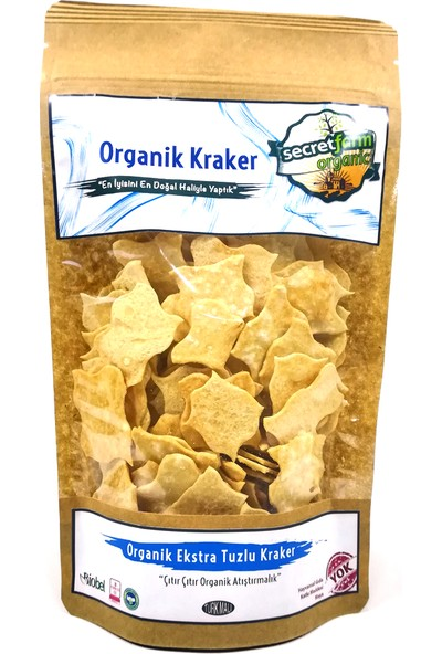 Secret Farm Organik Ekstra Tuzlu Kraker 100gr