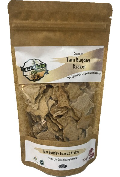 Secret Farm Organik Tam Buğday Kraker Tuzsuz 100 gr