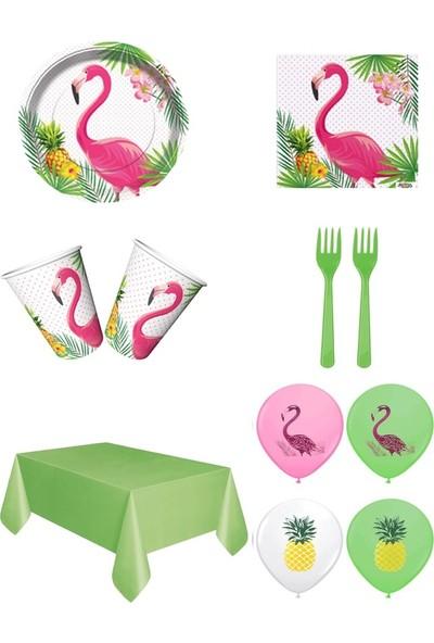 Sihirli Parti Flamingo Temalı Parti Seti 16 Kişilik