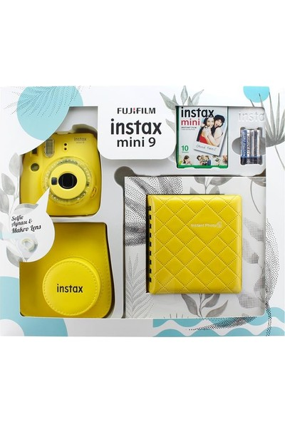Instax Mini 9 Kit Sarı