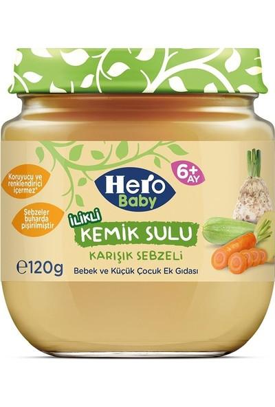 Hero Baby Ilikli Kemik Sulu Karışık Sebzeli Mama (12 Adet)