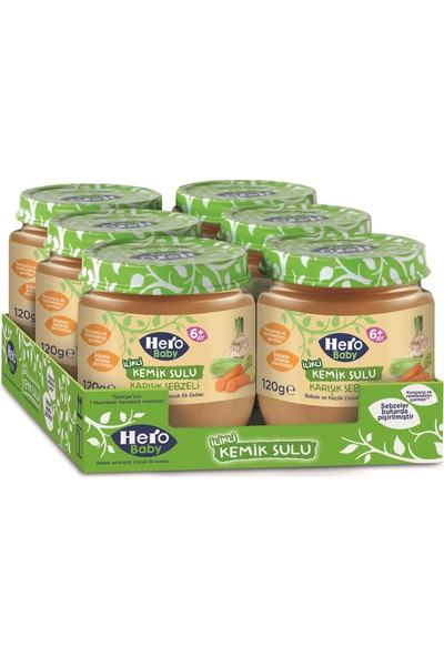 Hero Baby Ilikli Kemik Sulu Karışık Sebzeli Mama (6 Adet)