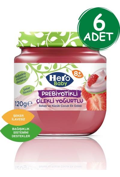 Hero Baby Prebiyotikli Çilekli Yoğurtlu 120 gr (6 Adet)