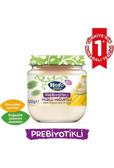 Hero Baby Prebiyotikli Muzlu Yoğurtlu 120 gr (12 Adet)