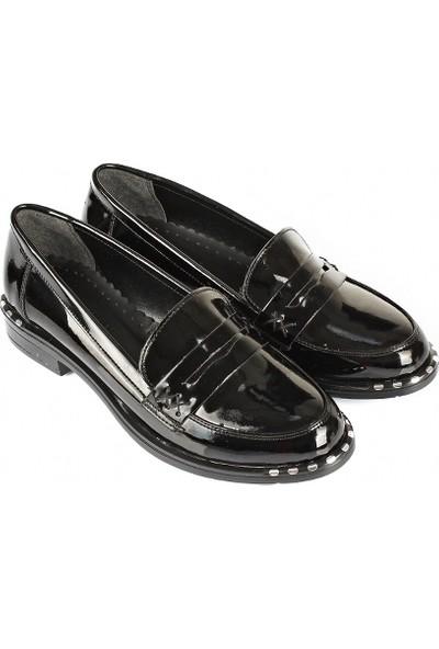Gön Kadın Ayakkabı 37102 Siyah Rugan